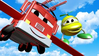 Baby Frank the Fire Truck Wants to FLY! with the Baby Cars in Car City ! - Cartoon for kids