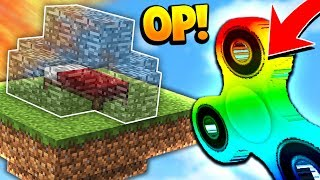 OP MINECRAFT RAINBOW FIDGET SPINNER! (Minecraft BED WARS Challenge)