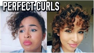 Perfect Heatless Ringlet curls! For your Fringe/Bangs! - Lana Summer