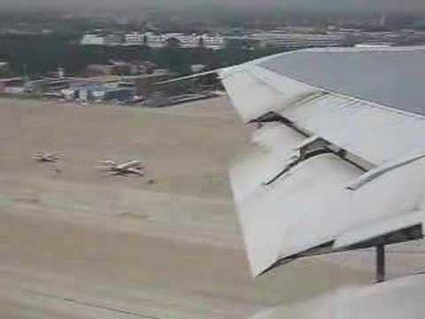 Iran Air Boeing 747SP take-off from Beijing - window view