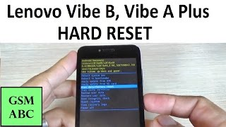 Lenovo Vibe B, Vibe A Plus HARD RESET / Factory Reset from Recovery / HOW TO