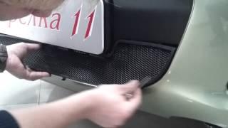 Видео: Установка защиты радиатора Lada Kalina черная