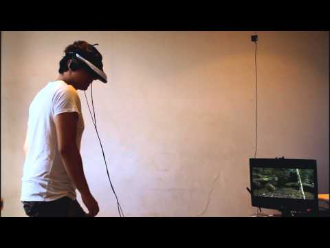 Skyrim in Virtual Reality using HMZ-T1, TrackIR & Kinect