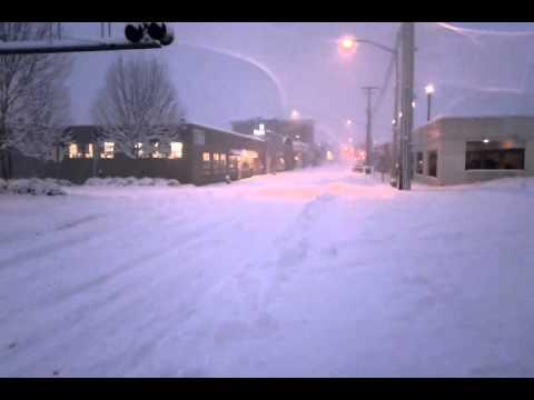 Downtown Olympia Washington snow storm Jan 18 2012 at 7:52am