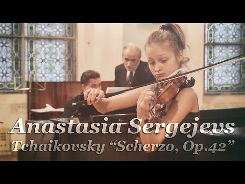 "Anastasia Sergejevs plays Tchaikovsky ""Scherzo, Op.42"" (2015)"