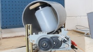 Ball Mill with parts from a Printer: 3 approcahes