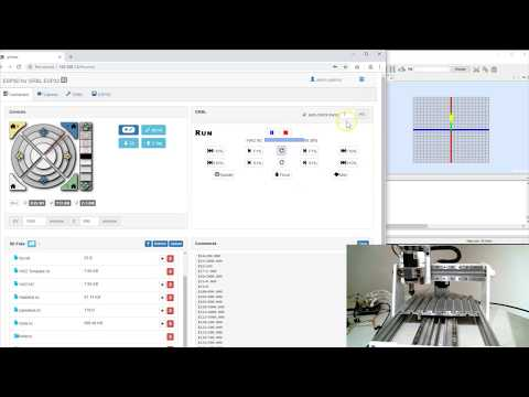 Demo of the Web Interface for Grbl_ESP32