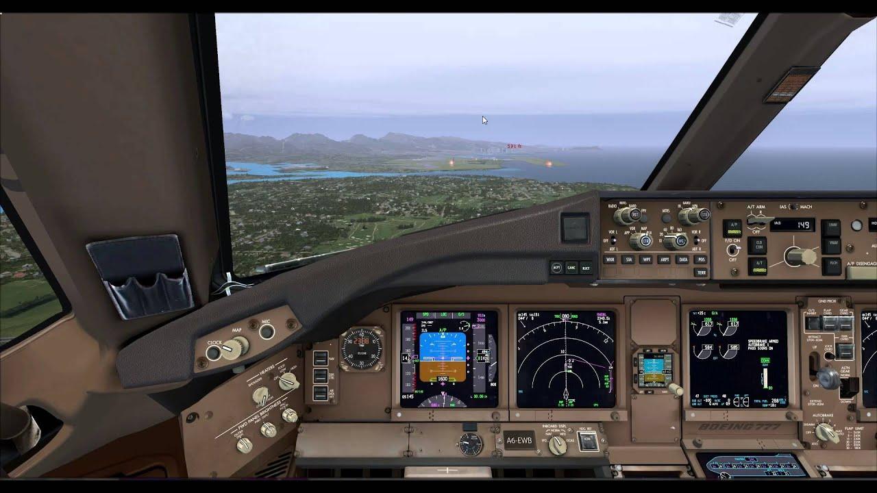 777 Landing Procedures Pmdg 777 Landing at Honolulu
