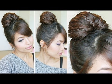 Braided Fan Bun Updo Hairstyle Hair Tutorial