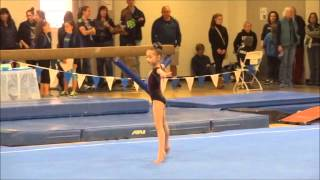 Miah's First Gymnastics Competition ever~!  Level 4 (7 years old)