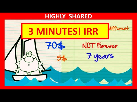 Internal Rate of Return IRR Explained in 3 Minutes with Internal Rate of Return Example