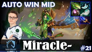 Miracle - Rubick AUTO WIN MID | Dota 2 Pro MMR Gameplay #21