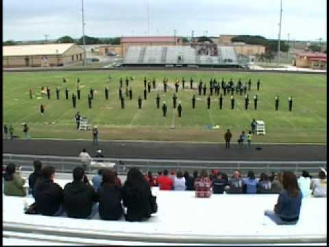 Goliad High School Roarin' Tiger Marching Band ~ Pre-UIL - Lakeshore Marching Festival 2009 (1/2)