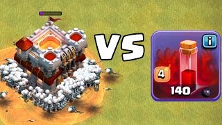 12 SKELETTZAUBER vs. RATHAUS! || CLASH OF CLANS || Let