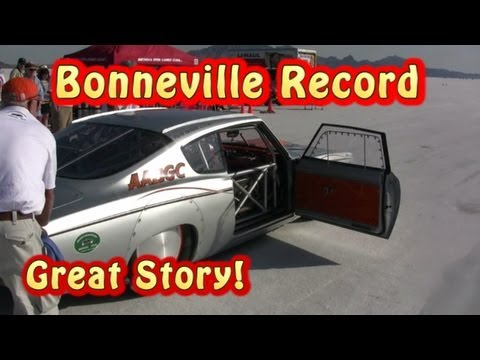 241 MPH Record at Bonneville! Tom Nelson, Paul Ogden & Shasta Roadsters Club.