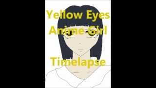 Yellow Eyes Anime Girl - Timelapse