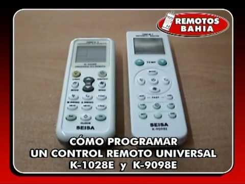 CÓMO PROGRAMAR UN CONTROL REMOTO UNIVERSAL RM-V3 REMOTOS BAHIA