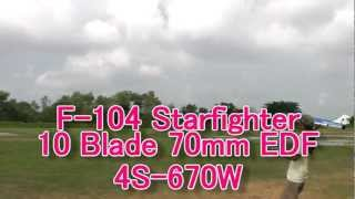 F-104 Starfighter 10 Blade 70mm EDF 4S-670W