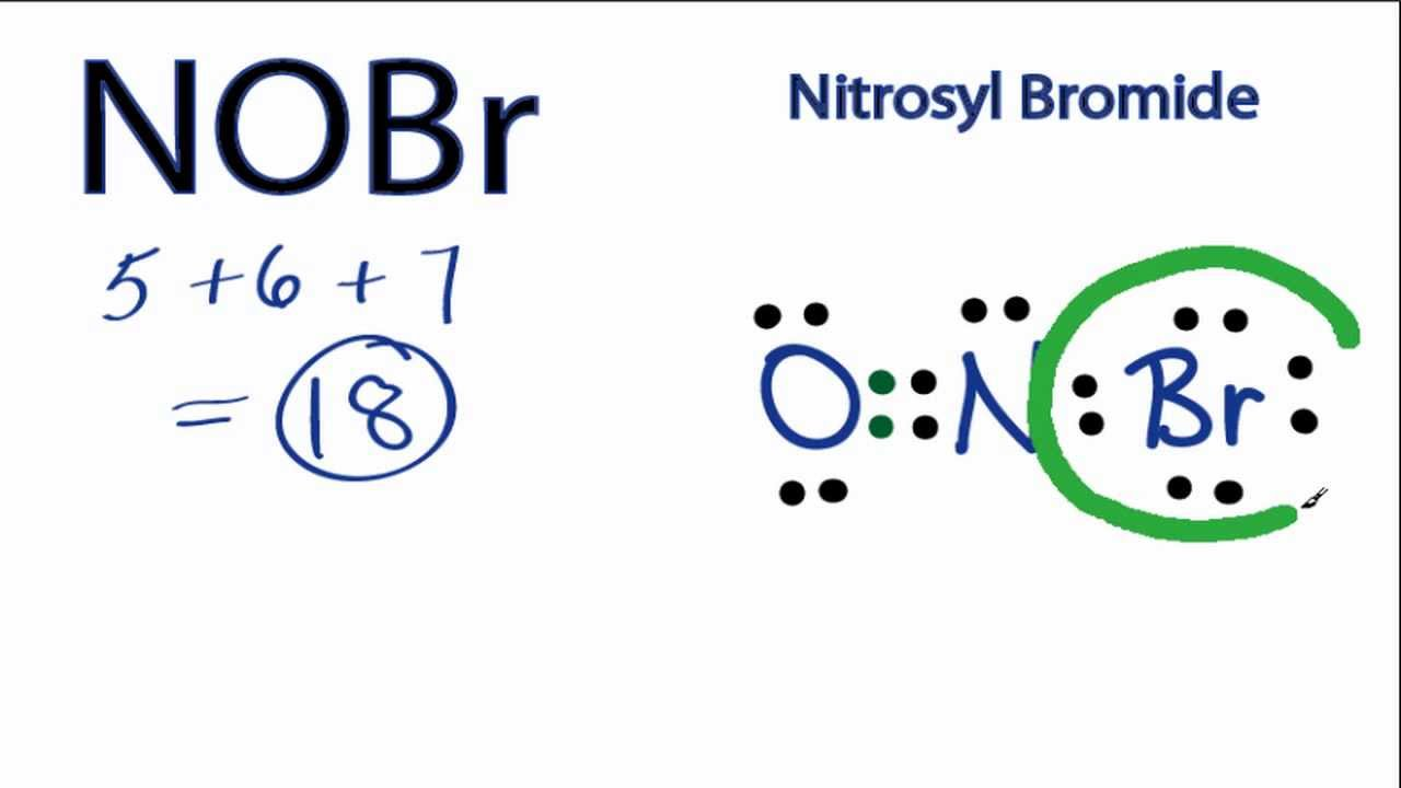 nobr lewis structure - how to draw the lewis structure for nitrosyl bromide
