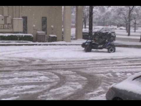 Hammerhead gts 150cc Go Kart demo video in the snow