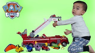 Paw Patrol Ultimate Rescue Fire Engine Truck Children Playtime Fun With  Ckn Toys