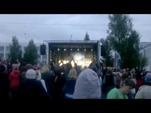 Надежда Бабкина в Омской области Любинский район, предвыборные гастроли