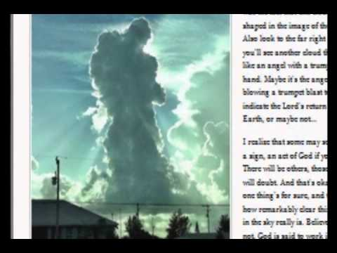 God or Angel in Photograph of Clouds Over Cape Coral, Florida