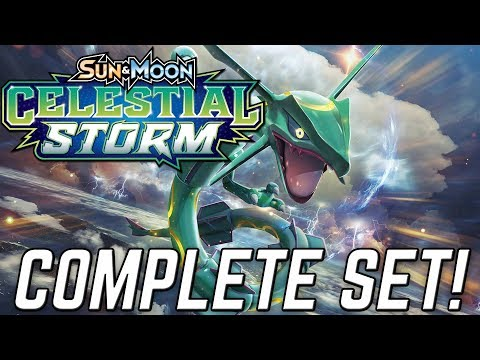 COMPLETE COLLECTION OF CELESTIAL STORM POKEMON CARDS!!!