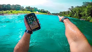 I Found a Working IPHONE X Underwater!! (iPhone Retuned to Owner- Family Freakout!!)