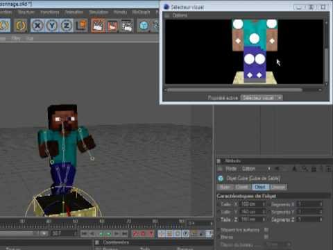 tuto cinema 4D: animation minecraft simple et reussi part1