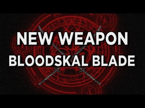 New Skyrim Dragonborn DLC Weapon Highlight - The Bloodskal Blade (2-Handed Sword)