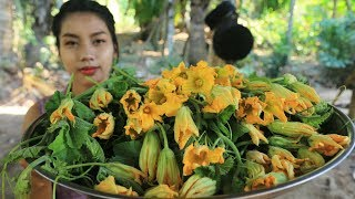Yummy cooking flower of pumpkin recipe - Cooking skill