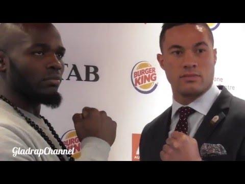FACE OFF - Joseph Parker vs Carlos Takam @ Pre-Fight Press Conference in Auckland