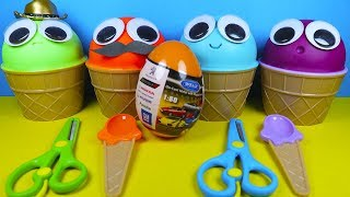 4 Colors Play Doh Ice Cream Cups PJ Masks Chupa Chups Surprise Toys LOL Kinder Surprise Eggs