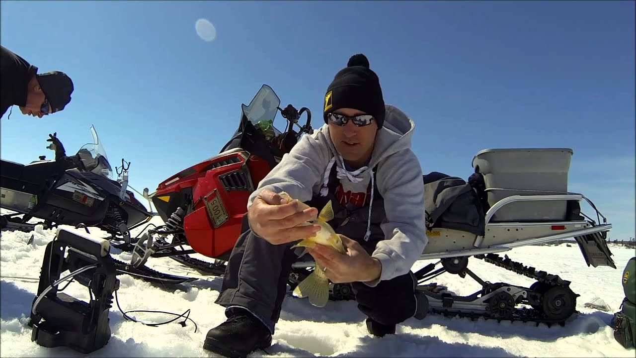 Lake of the Woods Ice Fishing   April 2014 Crappie Teaser