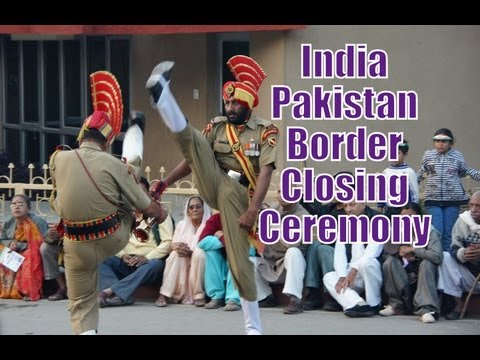 India & Pakistan Border Closing Ceremony In Wagah (border Security Force & Pakistan Rangers) video