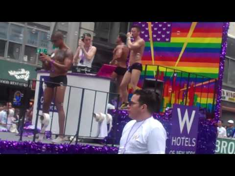 Hot Muscular W Hotel Hunks at the New York City Gay Pride Parade 2010