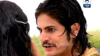 Jodha jumps into a pond, faces wrath of Akbar