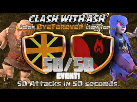Clash Of Clans   50 ATTACKS IN 50 SECONDS! 50 IN 50 MUST SEE CLAN WAR!