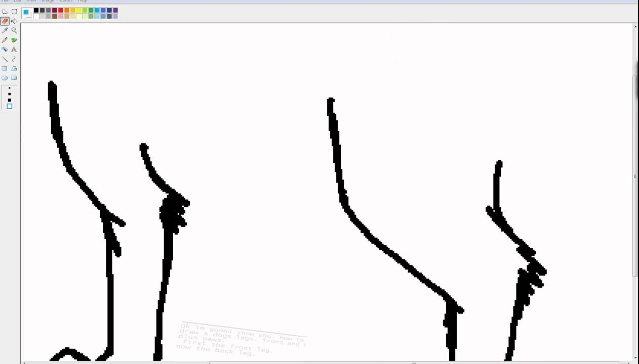 how to draw a dogs paws and legs