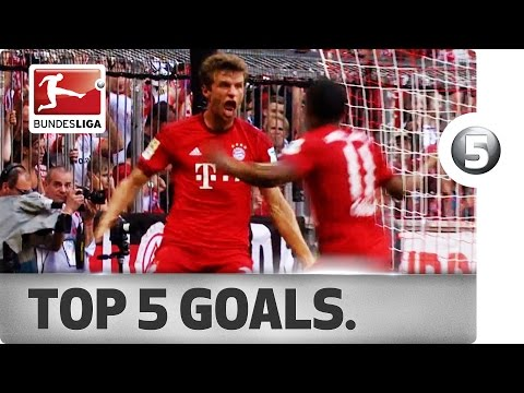 Top 5 Goals - Aubameyang, Müller and More with Sensational Strikes