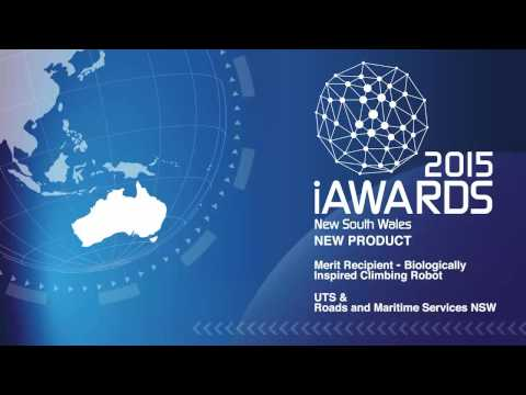 2015 NSW New Product Merit - Biologically Inspired Climbing Robot, UTS & Roads and Maritime Services
