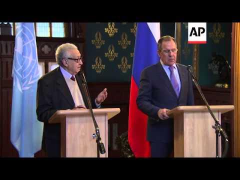 International envoy Brahimi warns of regional danger of Syria collapse