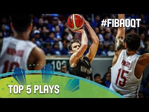 Top 5 Plays - Day 2 - 2016 FIBA Olympic Qualifying Tournament - Philippines