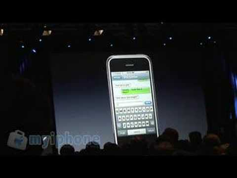 MYiPhone: iPhone Demo of SMS Text - virtual QWERTY Keyboard