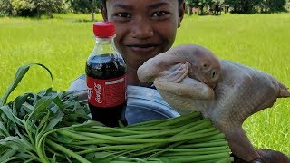 Delicious Chicken Roasted With Coca-Cola & Water Spinach