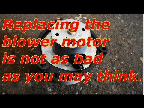 How to change the blower motor on a  Chevy Lumina
