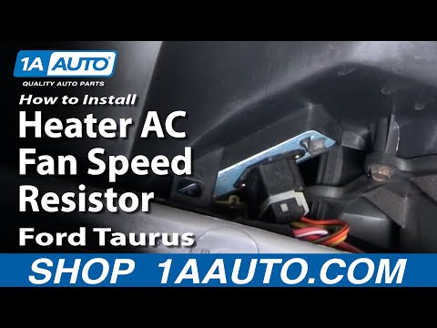 How To Install Replace Heater AC Fan Speed Resistor Ford Taurus Mercury Sable 96