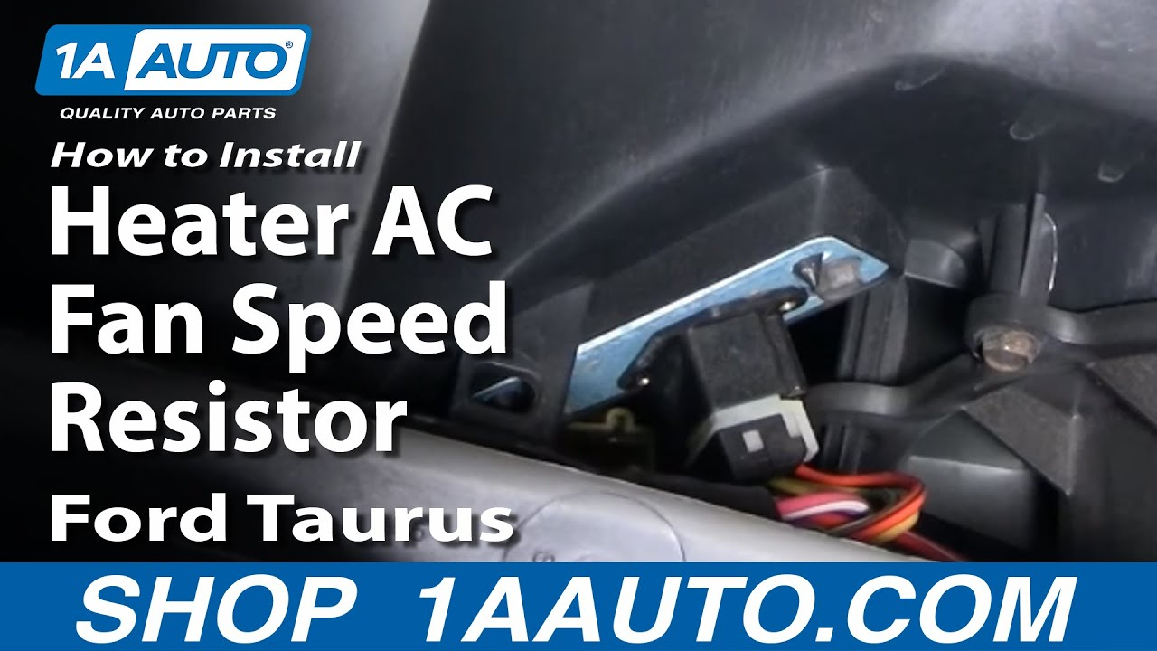how to install replace heater ac fan speed resistor ford