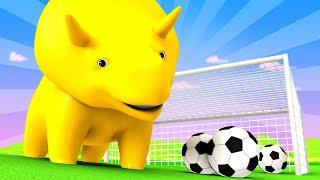 Aprender com o Dino - Especial Fifa - As Regras do Jogo - Aprender em português 👶 Desenhos Animados